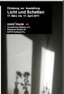 Ausstellung, Licht, Schatten, Pinnwand