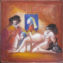 Vermeer, Modell, Lehrer, Rembrandt