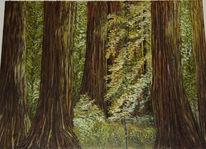 Die giganten, Ölmalerei, Malerei