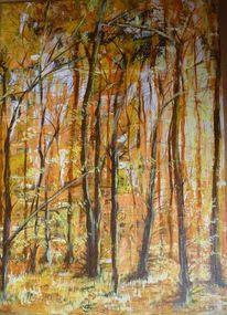 Wald, Warm, Finden, Malschule