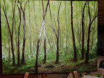 Hainich, Ölmalerei, Maigrün, Kleine malschule