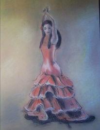 Flamenco, Kreide, Pastellmalerei, Tanz
