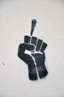 Wandzeichen, Rauchen, Hand, Zeichen