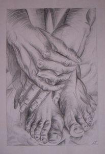 Realismus, Bleistiftzeichnung, Malerei, Figural