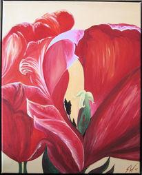 Abstrakt, Acrylmalerei, Blumen, Malerei
