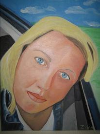 Üben, Frau, Ölmalerei, Malerei