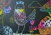 Ostern, Baum, Huhn, Ei