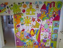 Wandmalerei, Malerei, Wand,