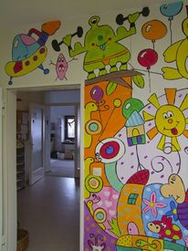 Wandmalerei, Malerei, Ausschnitt,