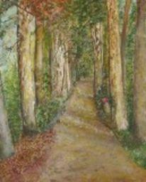 Birkenweg, Malerei, Weg