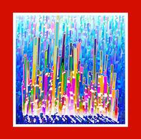 Digital abstrakt, Malerei, Abstrakt
