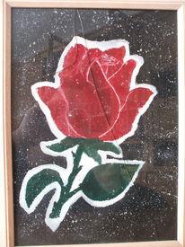 Rose, Rot schwarz, Blumen, Acrylmalerei