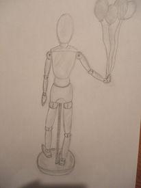 Modell, Bleistiftzeichnung, Grau, Zeichnungen