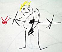 Moi, Zeichnungen, Portrait