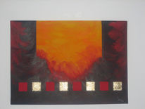 Orange, Rot, Hölle, Malerei