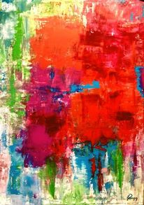 Stimmung, Acrylmalerei, Abstrakt, Farben