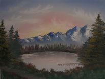 Landschaft, Ölmalerei, Winter, Malerei