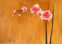 Orchidee, Acrylmalerei, Malerei, Stillleben
