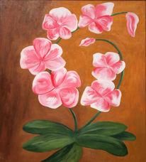 Blumen, Orchidee, Acrylmalerei, Malerei