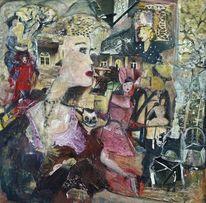Frau im vordergrund, Kater, Fenster, Erinnerung