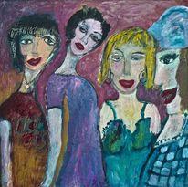 Rot, Violett, Grün, Weiblich