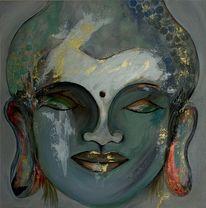 Gesicht, Asien, Pastellmalerei, Thailand