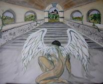 Engel, Toskana, Flügel, Treppe