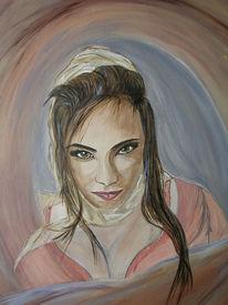 Frau, Gesicht, Portrait, Malerei