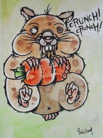 Mörchen, Hamster, Karotte, Fett