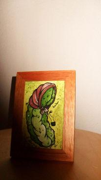 Malerei, Abstrakt, Grün, Kopftuch