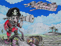 Pirat, Schatz, Gold, Meer