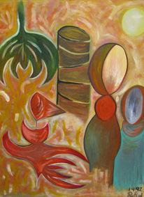 Malerei, Mutter, Kind