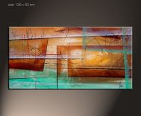 Natur, Moderne kunst, Gemälde, Design