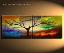 Gemälde, Malerei, Natur, Design