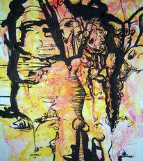 Tusche, Zeichnung, Kinder, Wahrnehmung