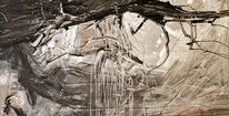 Wald, Ausgang, Acrylmalerei, Malerei