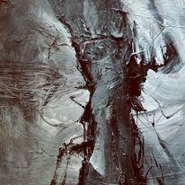 Acrylmalerei, Relief, Düster, Intuition