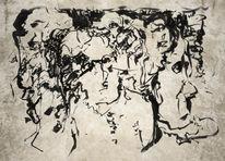 Tuschezeichnung, Verwirrung, Zeichnungen