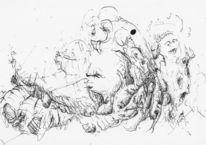 Gegenruf, Geist, Federzeichnung, Zeichnungen