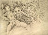 Traumwelt, Federzeichnung, Realität, Zeichnungen