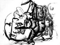 Abstrakt, Feder, Zeichnung, Pinsel