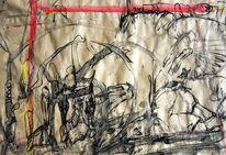 Acrylmalerei, Skizze, Zeichnung, Pinsel
