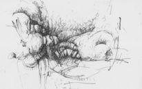 Personal, Tuschezeichnung, Zeichnungen, Abstrakt