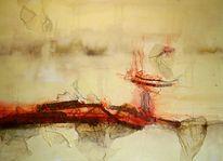 Hitze, Acrylmalerei, Heide, Intuition