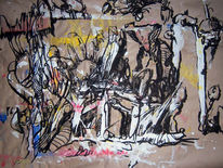 Abstrakt, Wahrnehmung, Acrylmalerei, Pinsel