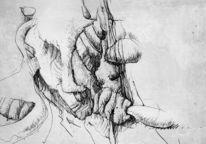 Vorgefühl, Menschlichkeit, Zeichnungen, Abstrakt