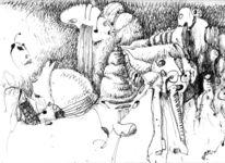 Rebell, Federzeichnung, Schwarz, Zeichnungen