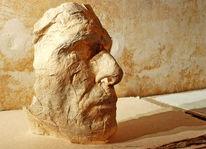 Skulptur, Mann, Portrait, Maske