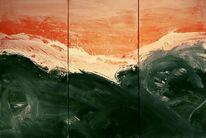 Triptychon, Acrylmalerei, Malerei