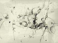Echo, Federzeichnung, Bewusstsein, Zeichnungen